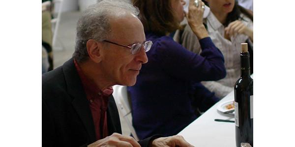 Randy Cohen listening during dinner