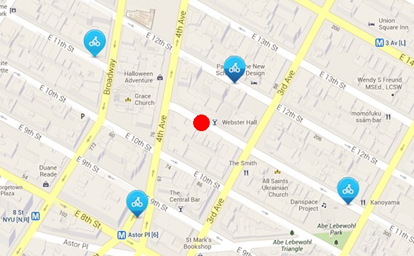 webster hall map