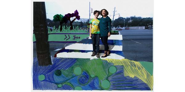 Esmé Brauer and Hilda Cohen's bike portrait