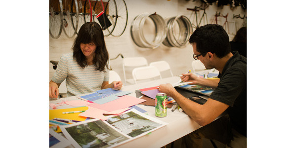 Lesley McTague and Daniel Solow visioning their Bicycle Utopia